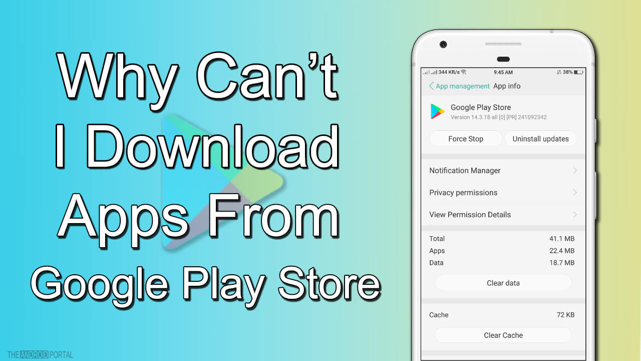 Why Cant I Download Apps From Google Play Store