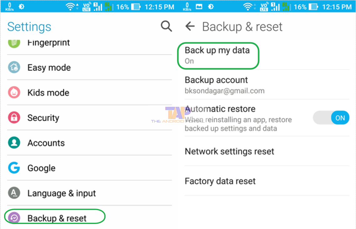 Backup Call Logs on Google Account