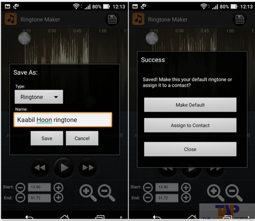 Set MP3 as Ringtone on Android