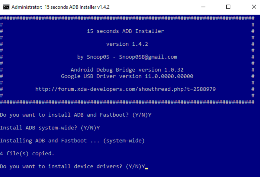 download and Install ADB Drivers