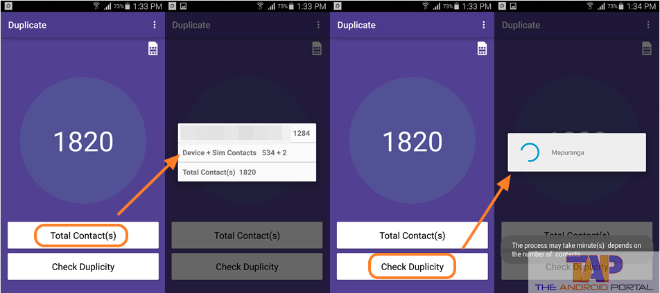 removing duplicate contacts on android