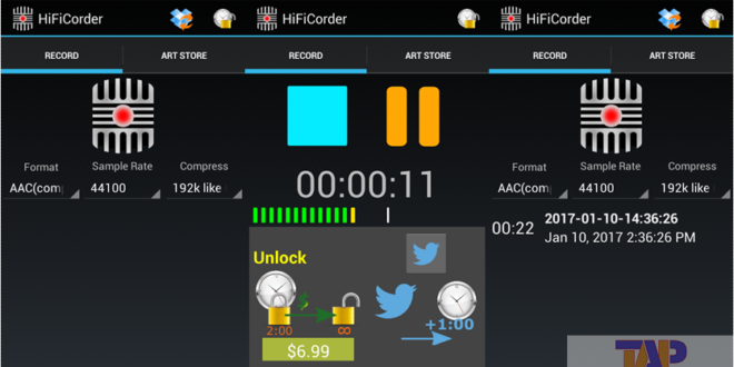 HiFiCorder Record Android App 1