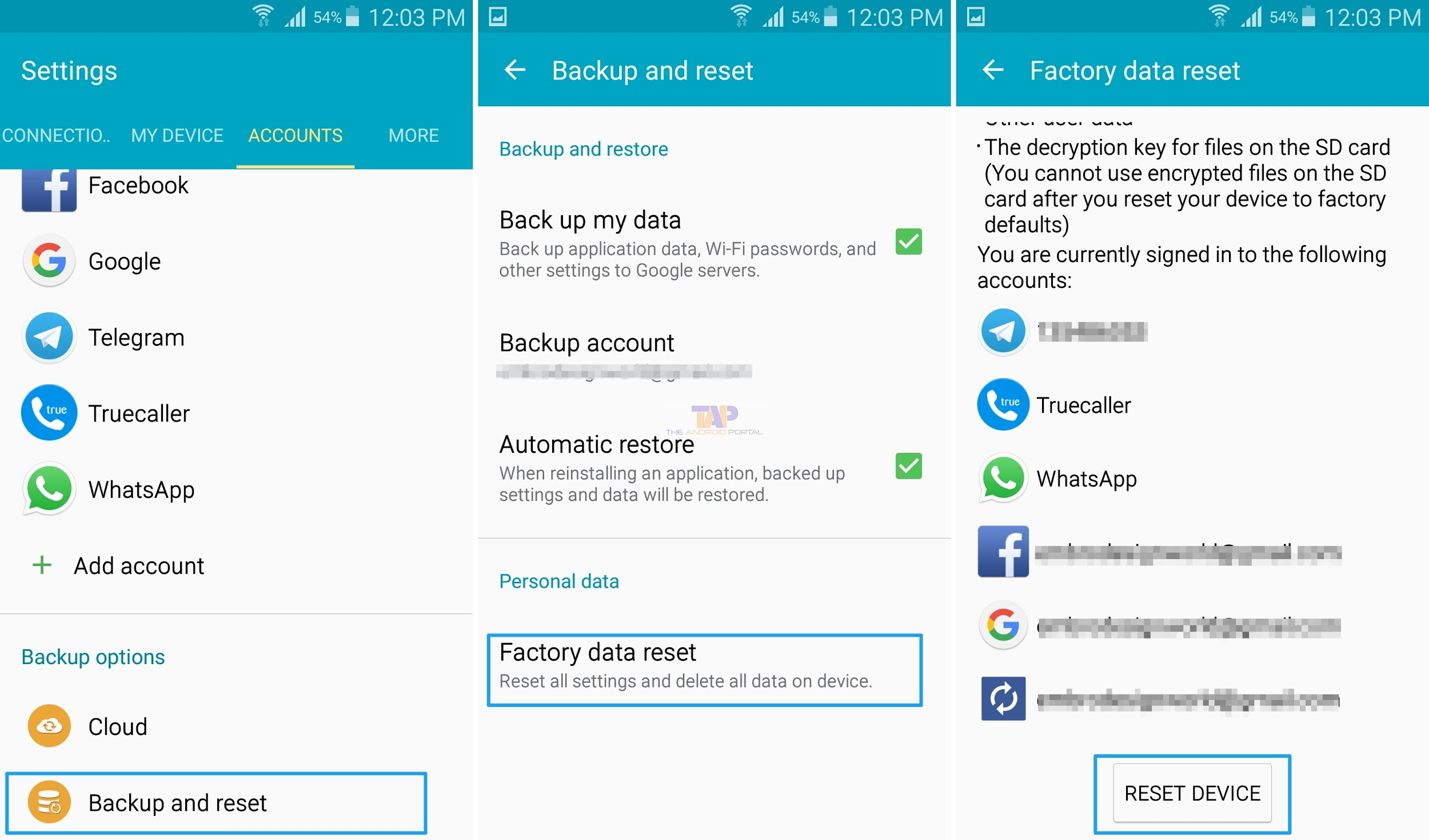 Reset your device to factory settings