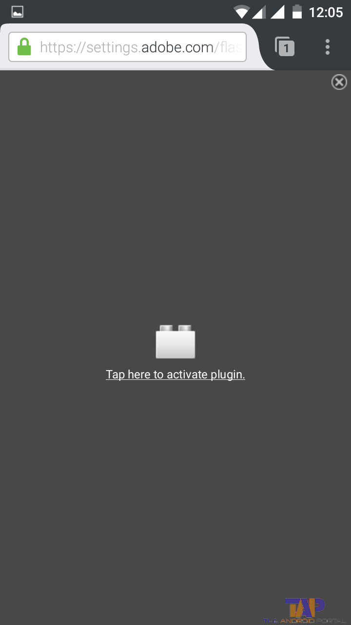 Tap here to activate plugin - Firefox on android