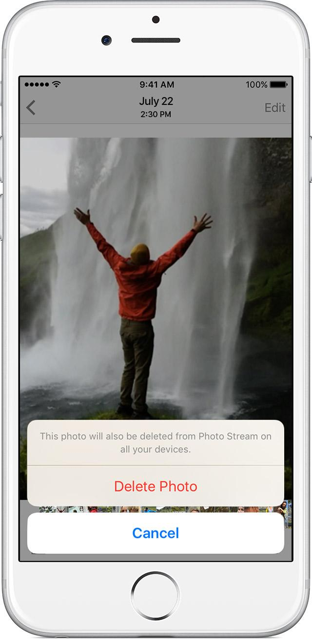 remove photos from iphone