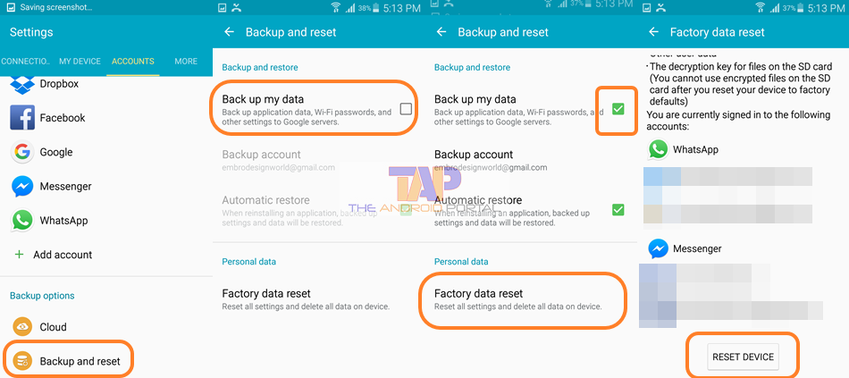 By Performing the Factory Data Reset - Google Messenger