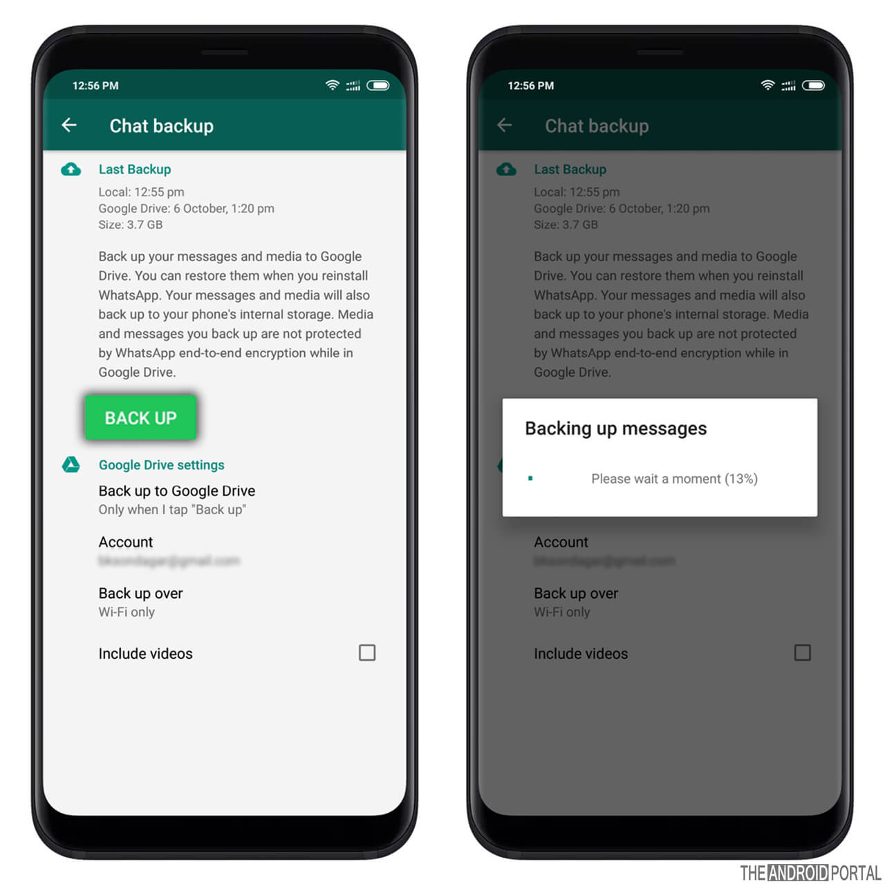 Enable WhatsApp Chat Backup on Android