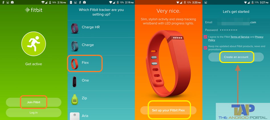 how to use fitbit android app