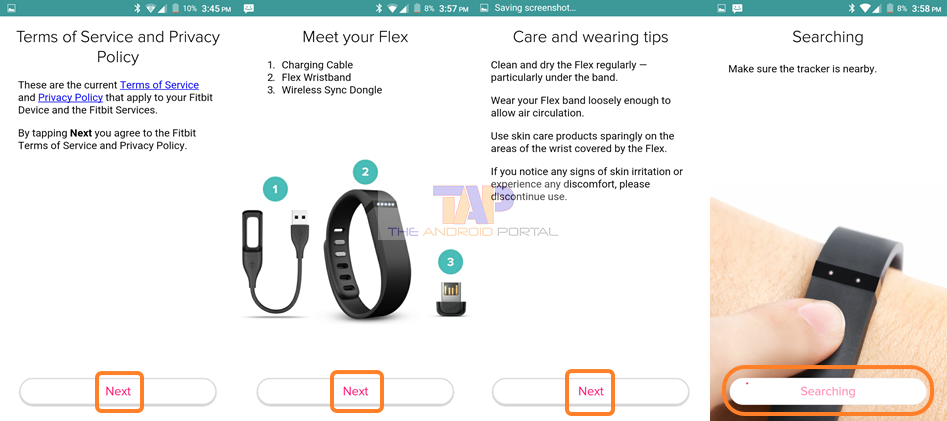 fitbit setup on android