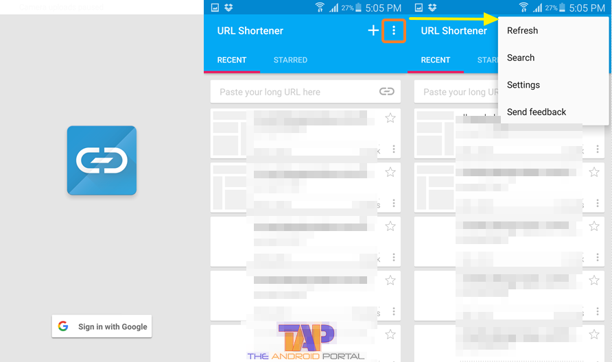 URL Shortener Android App 1