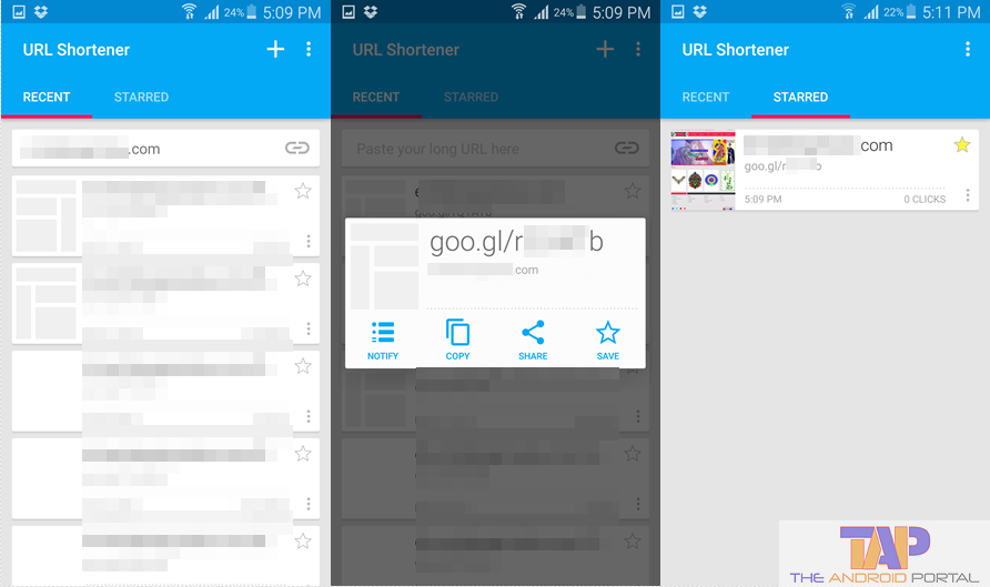 URL Shortener Android App 2