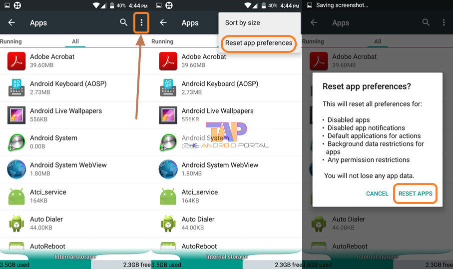 By Resetting App Preferences