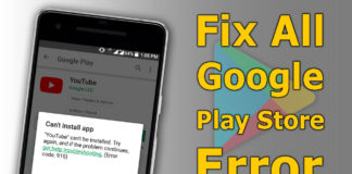 Fix All Google play store Error