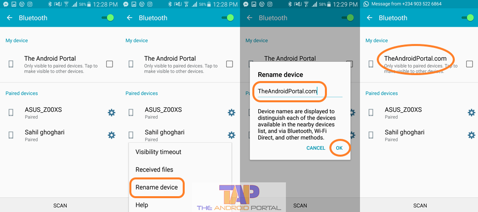 How to Change Android Device Name for Bluetooth