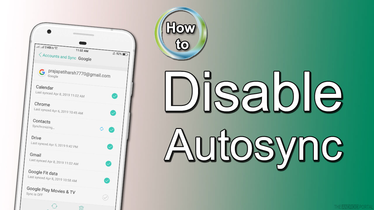 How to Disable Autosync