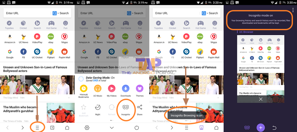 How to Use Private Browsing on Android in UC Browser