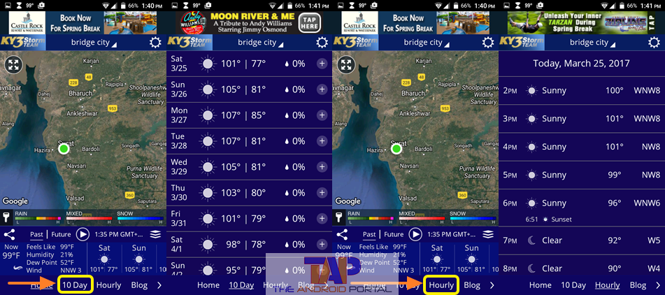 KY3 Weather Android App 2