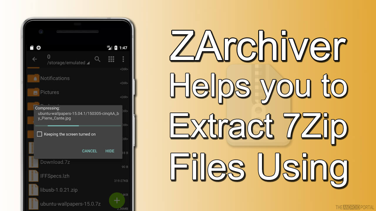 ZArchiver Helps you to Extract 7Zip Files Using Android