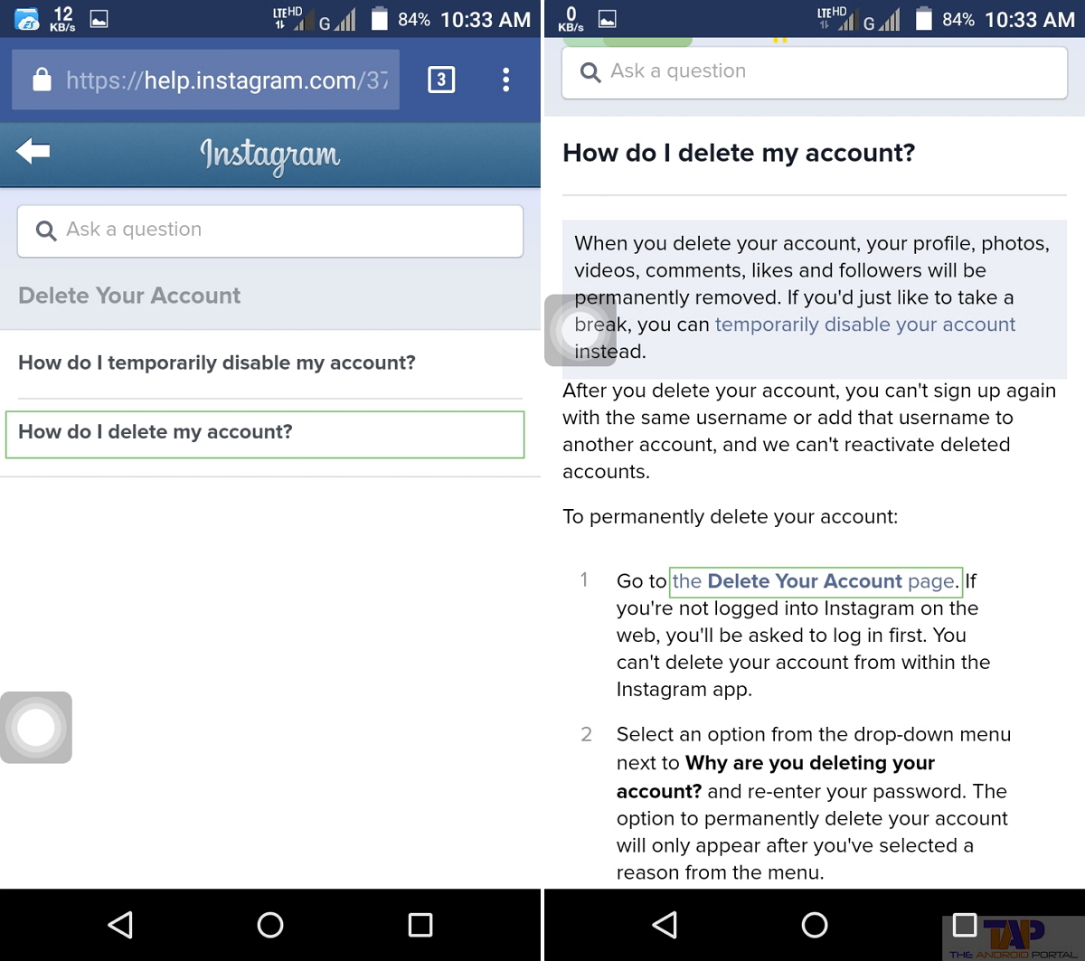 How to deactivate instagram account how to delete instagram ccuart Images