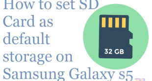 how to set sd card as default storage on galaxy s5