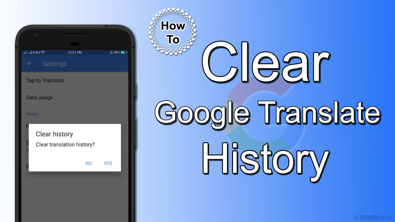 How To Clear Google Translate History