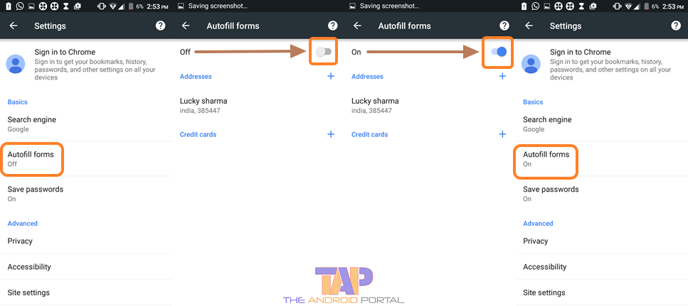 How to Enable and Disable the Chrome Autofill on Android Mobile 1