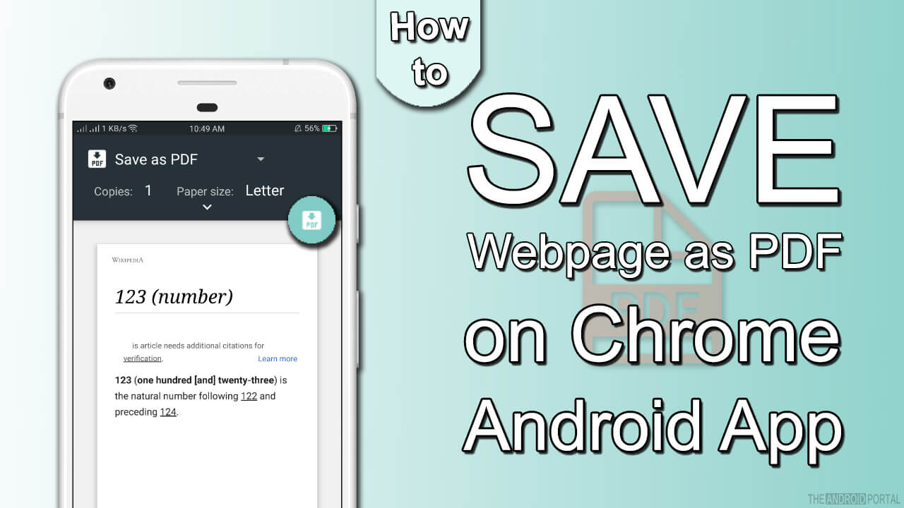 How to Save Webpage as PDF on Android using Google Chrome
