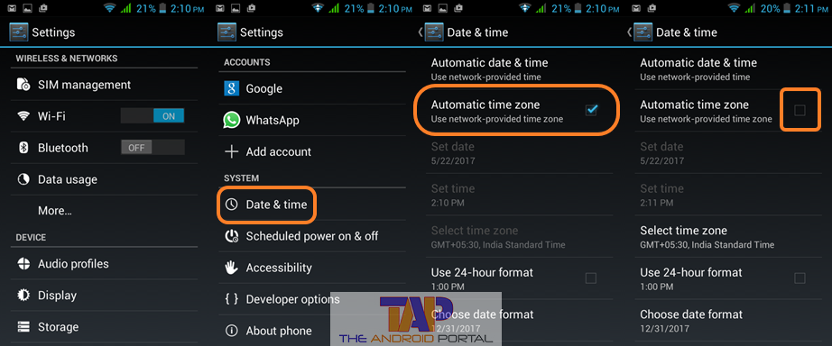 Automatic Time Zone and Date-Clock are Wrong 2