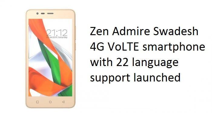 Zen admire swadesh phone launched