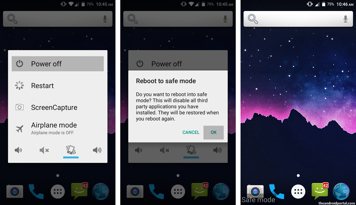 Boot your Android smartphone into Safe Mode