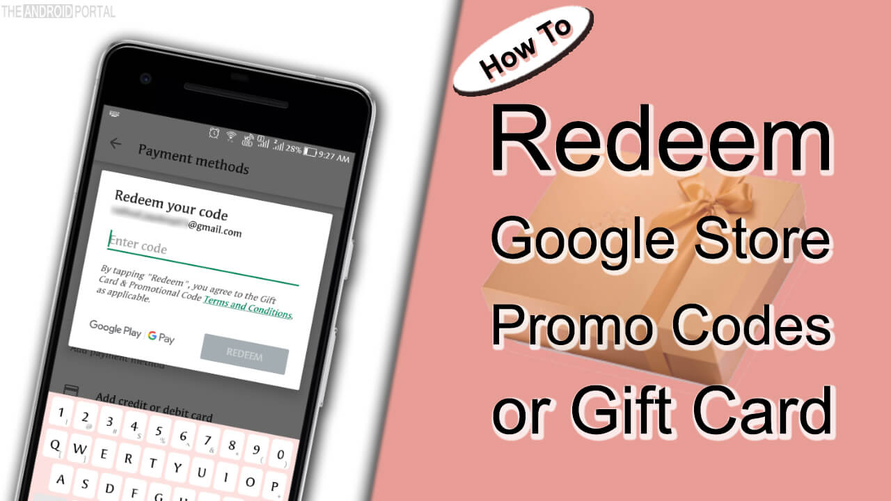 How To Redeem Google Store Promo Codes or Gift Card