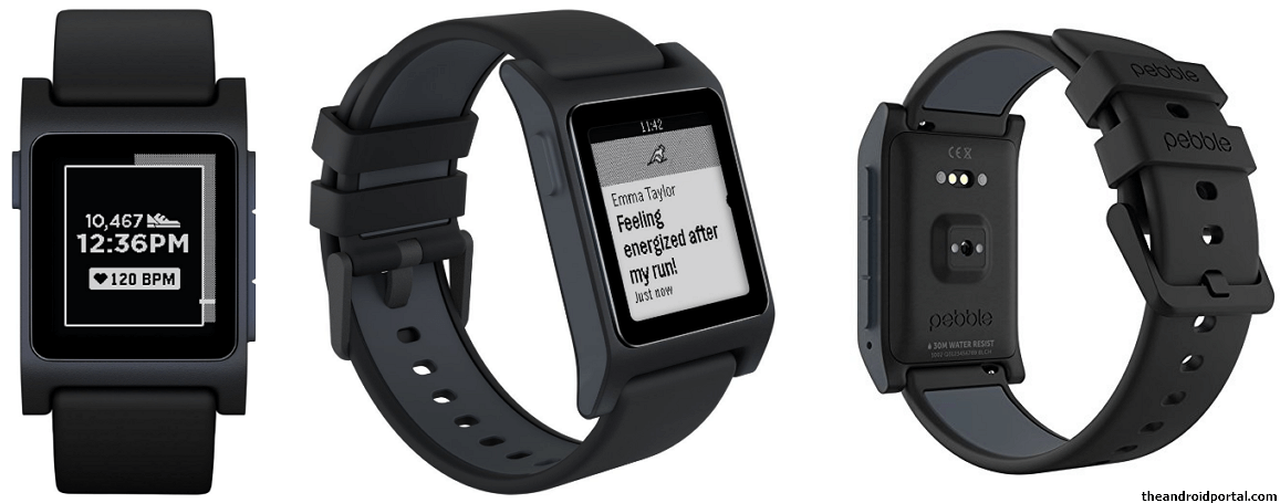 Pebble 2 Plus Black Heart Smartwatch