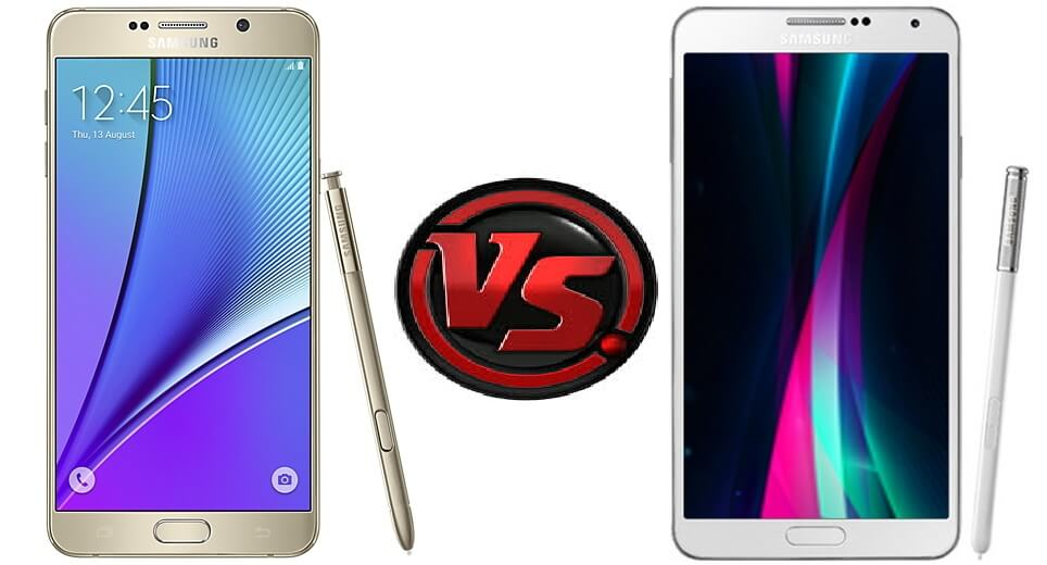 Samsung Galaxy Note 3 vs Note 5