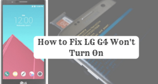 lg g4 won't turn on