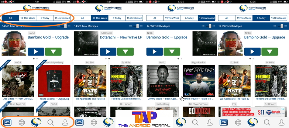 LiveMixTapes Mobile Android App Review - TheAndroidPortal