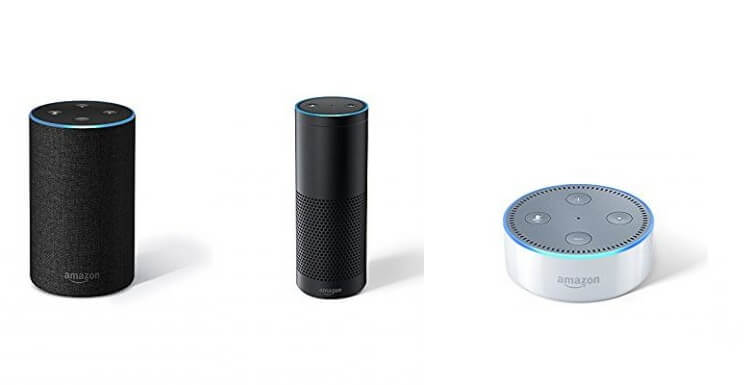 Amazon Echo, Echo Plus, and Echo Dot