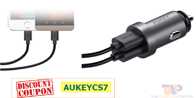 aukey dual port car charger