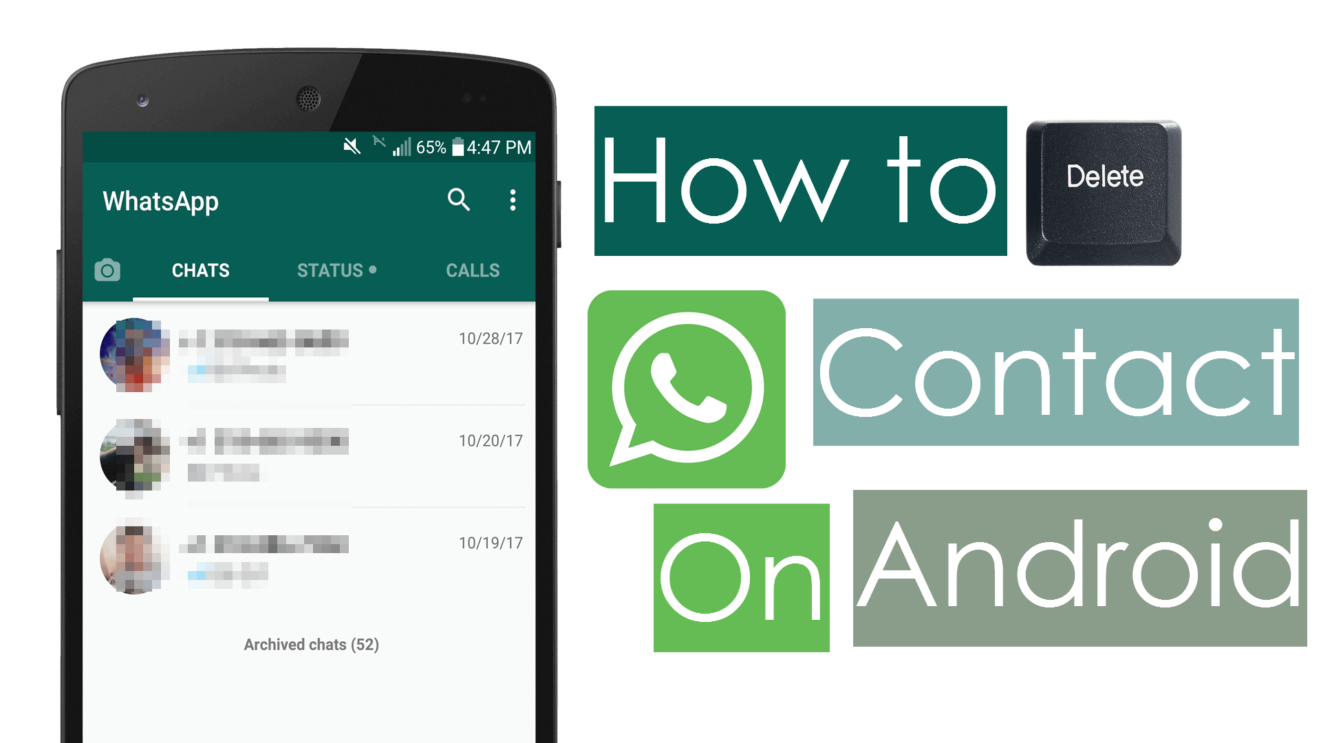 Delete whatsapp contact on android