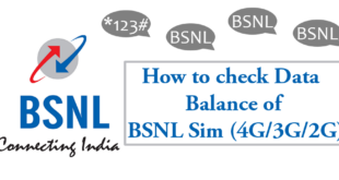 How to check data balance of BSNL Sim