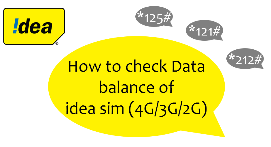 How to check data balance of Idea sim