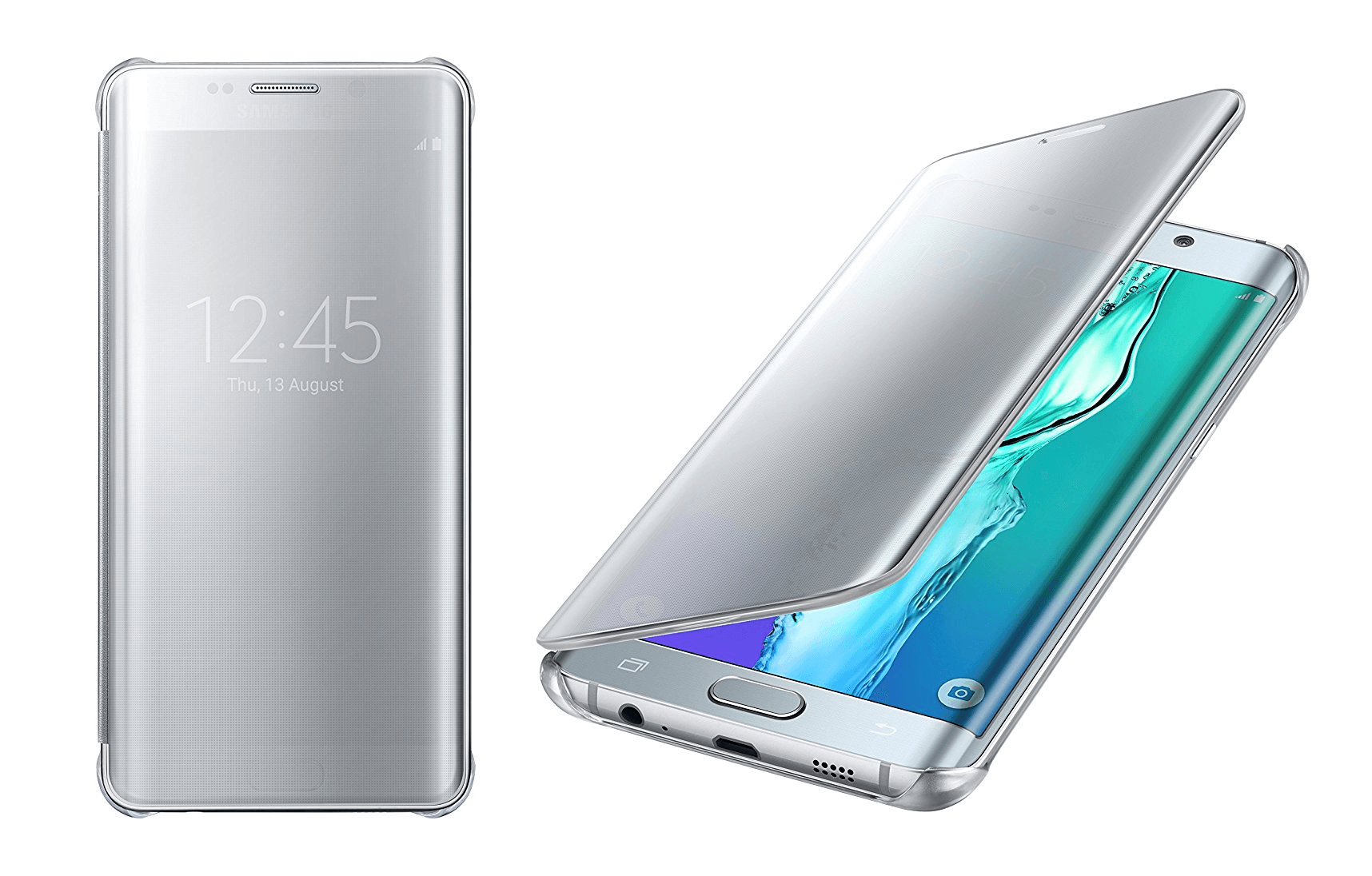 1 Samsung Galaxy S6 edge+ Case S-View Clear Flip Cover