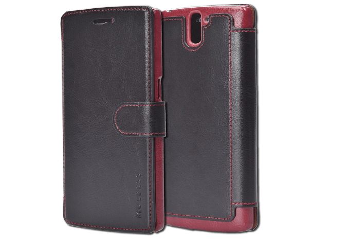 Mulbess Premium Leather Flip Case with Credit Card Slot for OnePlus One