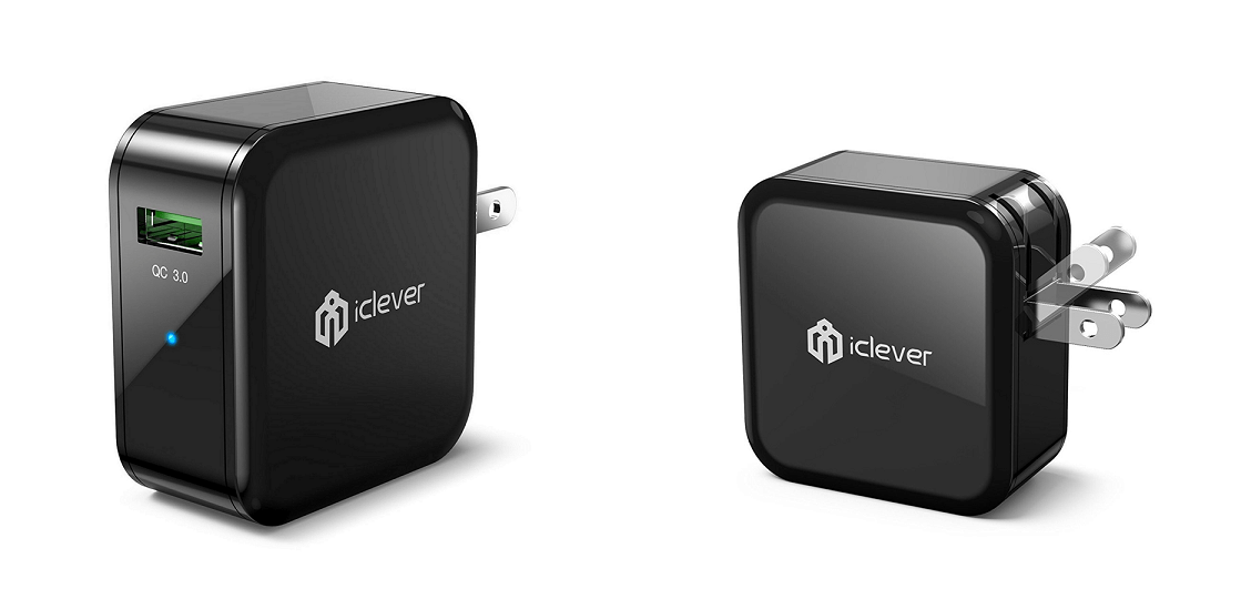 iClever BoostCube+ Qualcomm Certified QC 3.0 USB Wall Charger