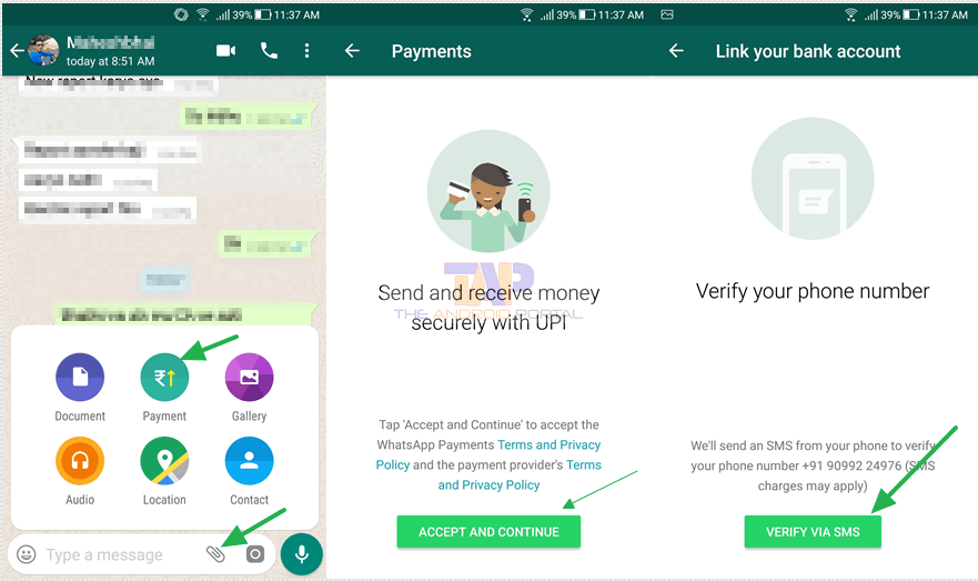 Enable WhatsApp Payment Feature