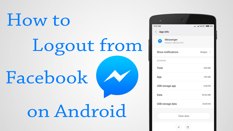 Log Out of Messenger Session From the Facebook App - theandroidportal.com