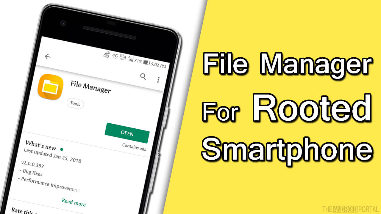 File Manager For Rooted Smartphoe