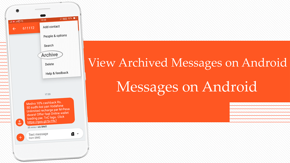 How to View Archived Messages on Android Messages on Android - theandroidportal.com