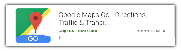 Maps Go (Playstore)