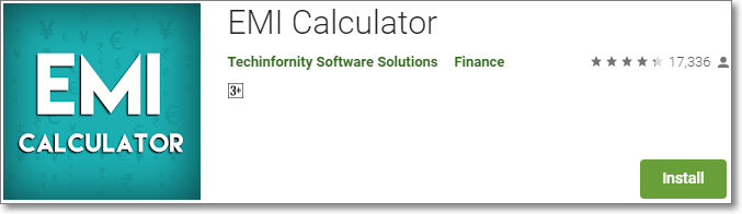 EMI Calculator App byTechinfornity Software Solutions