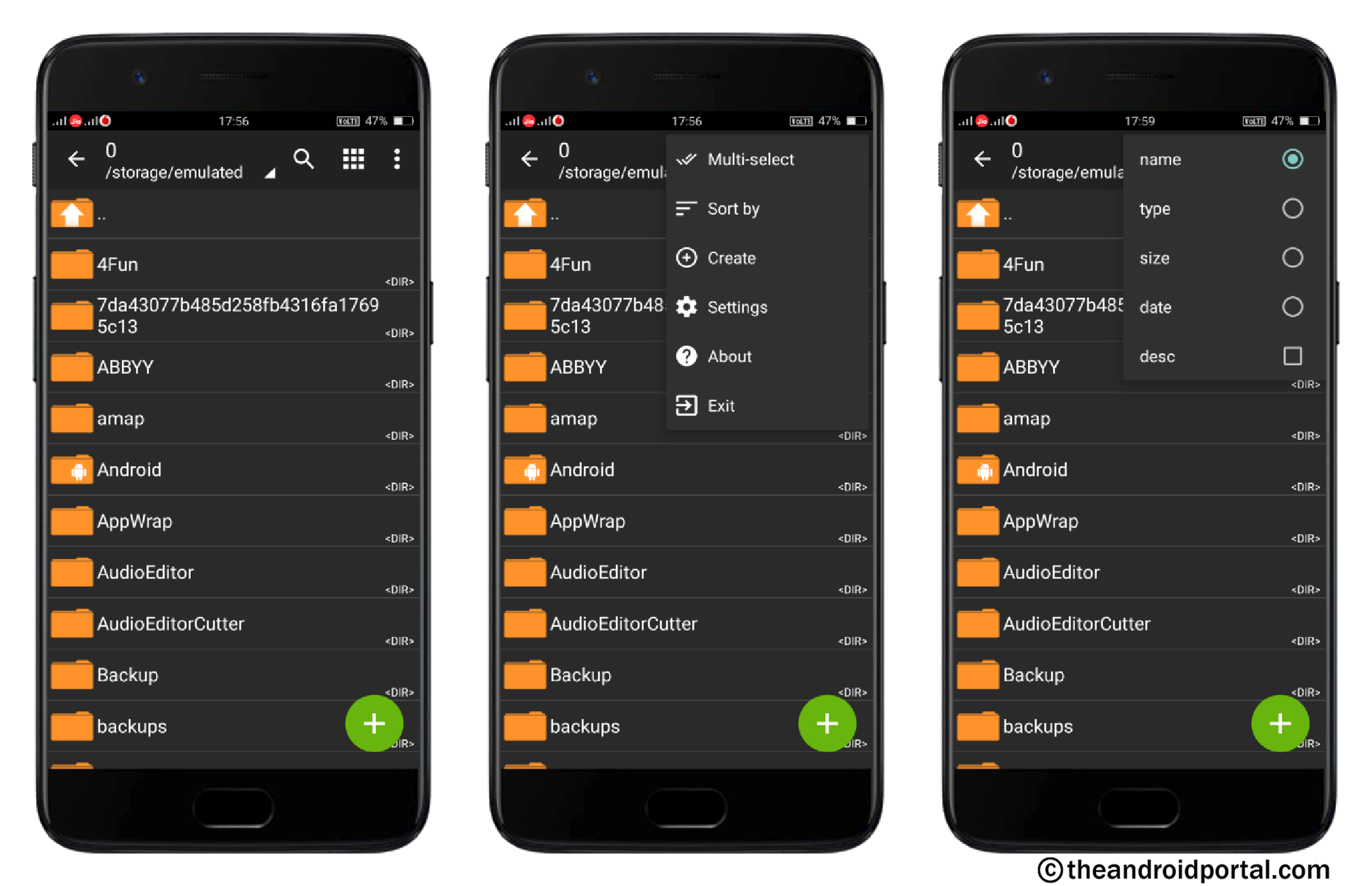 File Sorting Using Categories - ZArchiver - theandroidportal.com